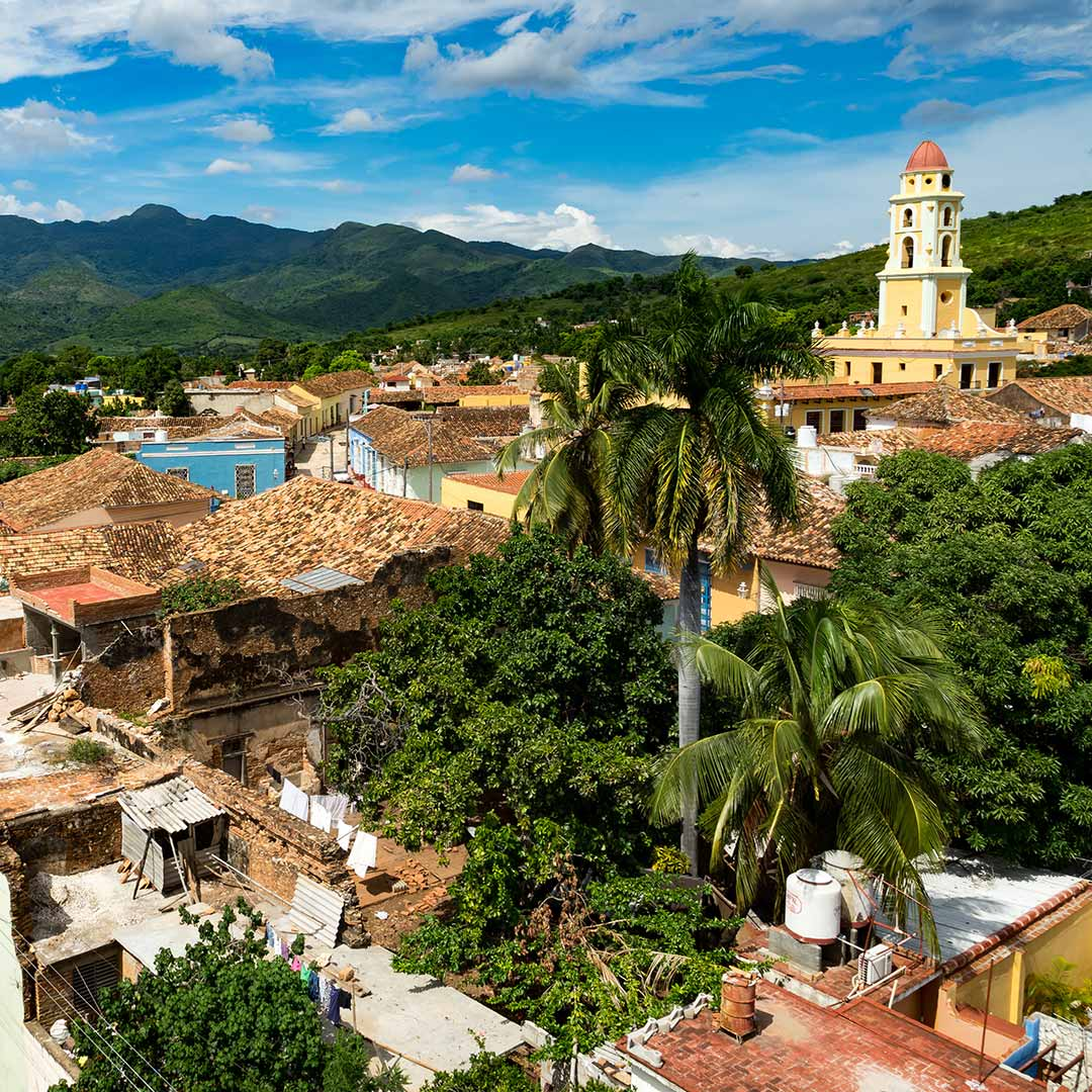 View over city of Trinidad, Cuba